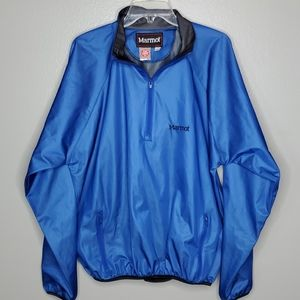 Marmot L windstopper half zip pullover blue